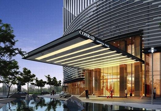 香港郑中设计石材应用案例 大连万达中心