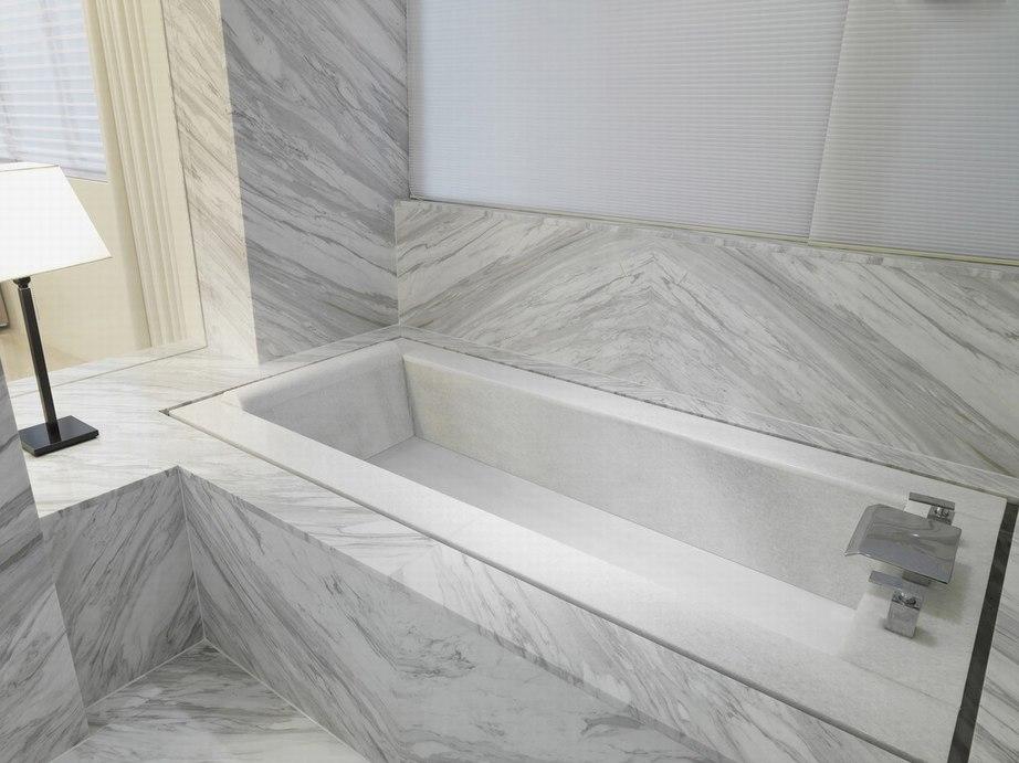 白色浴室--天然石