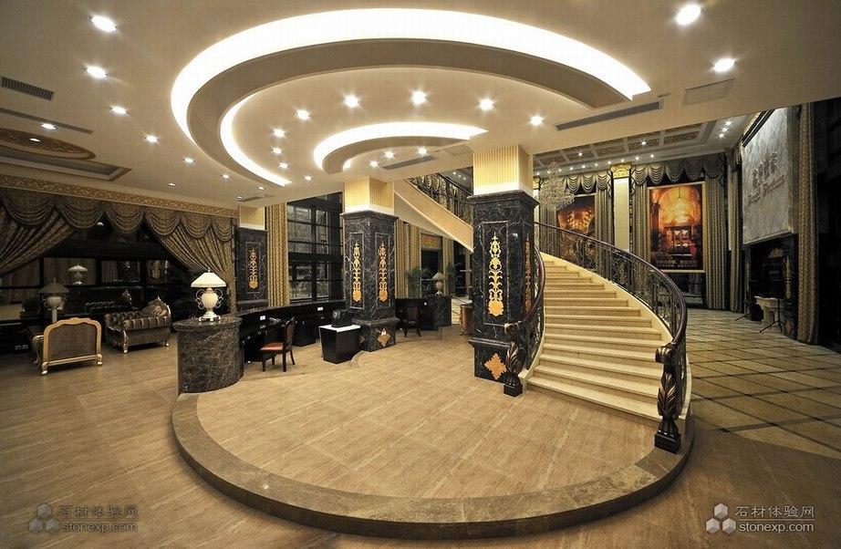 欧式风格酒店 大堂地面应用