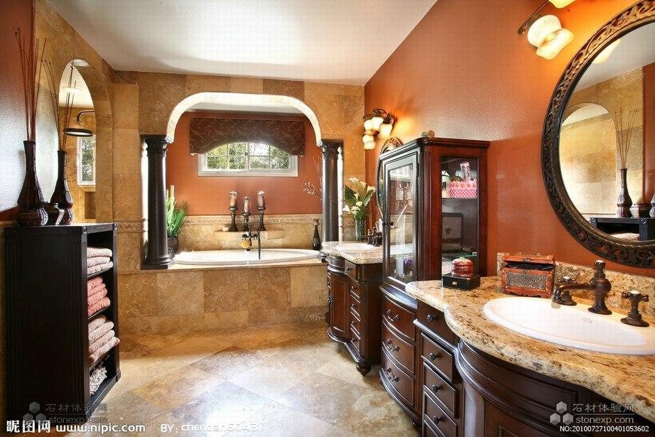 欧式古典风情的洗手池