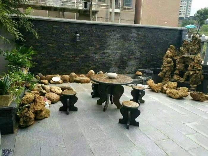 天然青石板石桌