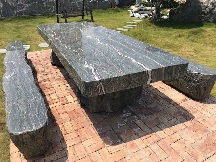 石桌椅,九龙玉