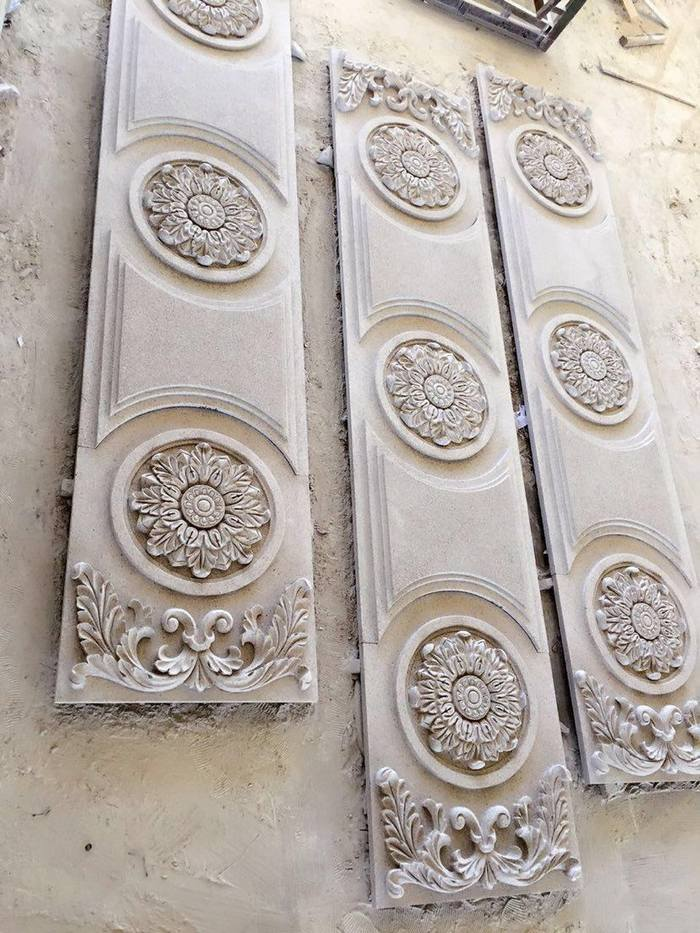 三盛石材|單品定制·雕刻花崗巖平板別墅外墻雕花板