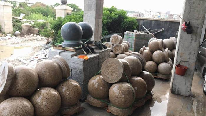 黃繡石圓球,大量生產