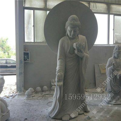 石雕佛像 寺廟石頭佛像雕塑擺件