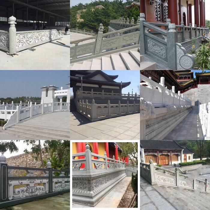 石雕护栏石雕栏杆青石栏杆栏杆定制