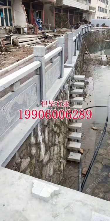 灰麻栏杆石g655芝麻灰石材栏杆雕刻桥栏浮雕石雕