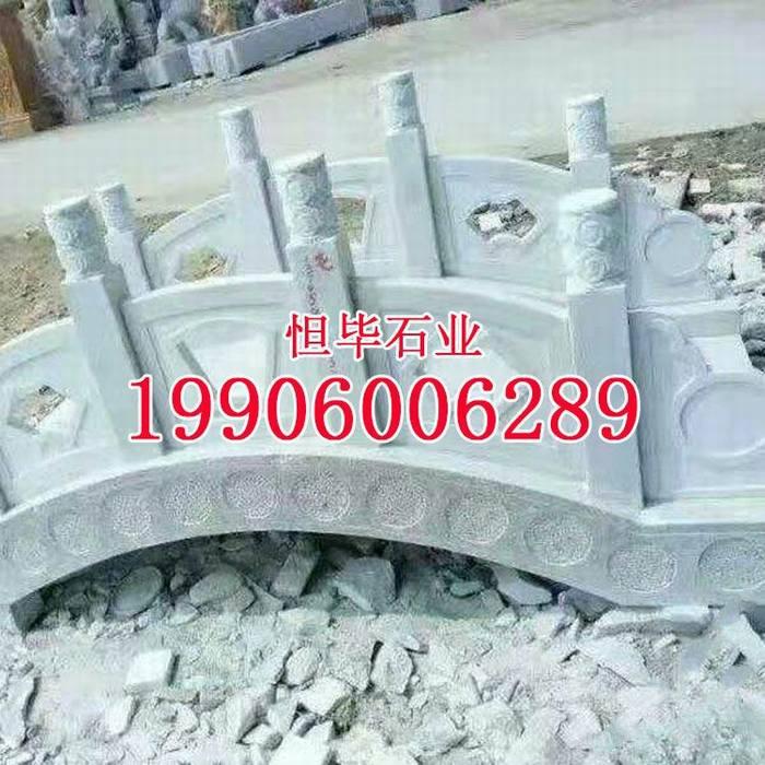 芝麻灰灰色花岗岩石拱桥g655石材栏杆雕刻柱子