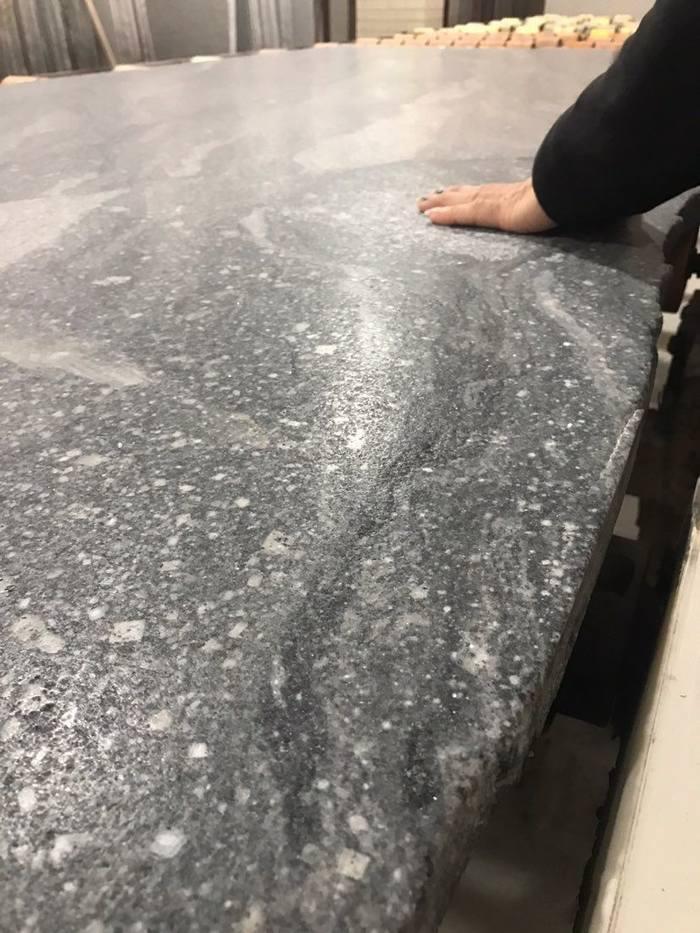山水石皮革面大板