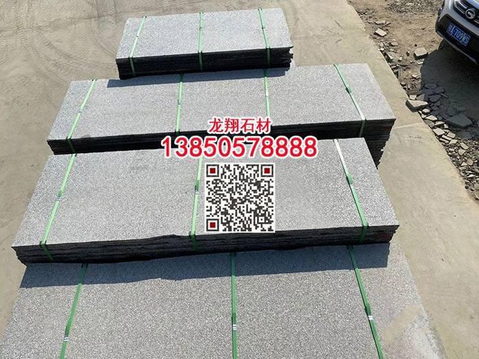 广西黑石材火烧面工程板新芝麻黑火烧板台面板光面大板