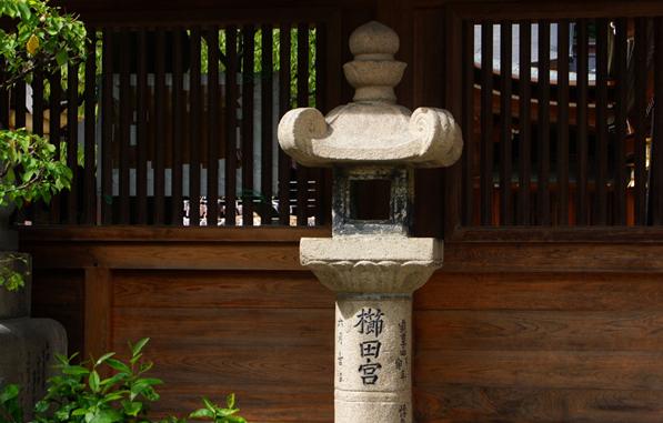 福冈栉田神社石灯