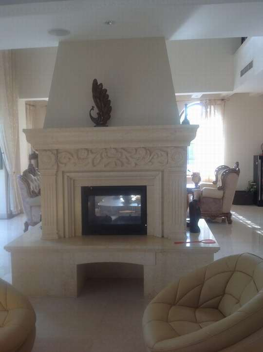 石雕壁炉1