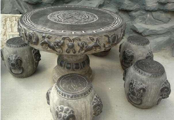 仿古石雕桌子