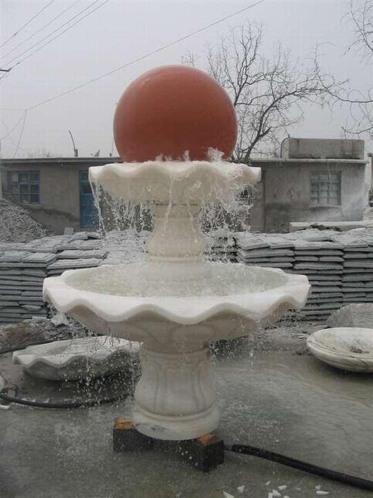汉白玉石雕风水球