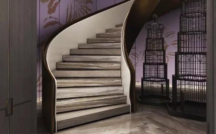 旋转楼梯绽放石材设计的魅力
