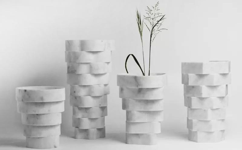 变废为宝:大理石废料成限定艺术品
