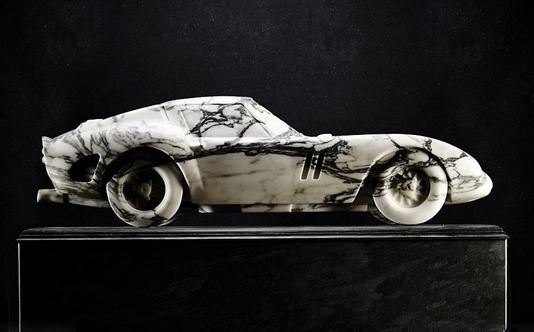 石材設計:全大理石雕刻法拉利模型車