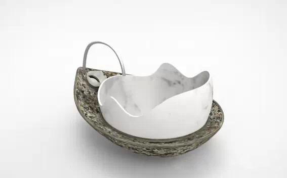 大理石雕刻藝術感十足的容器