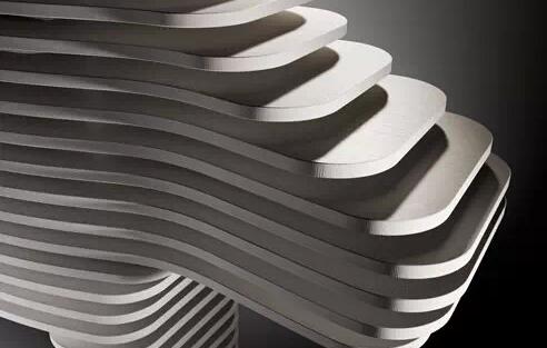 切成面包片的大理石堆疊設計