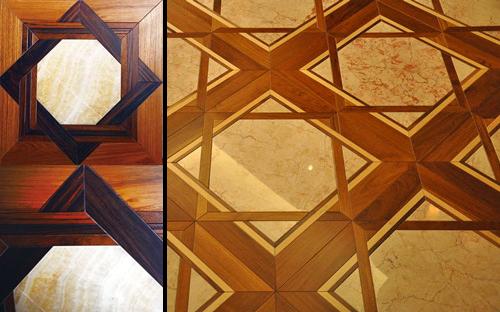 木石嵌套的創意石材拼花