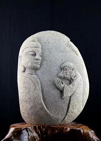 石雕欣赏——百态达摩石雕像