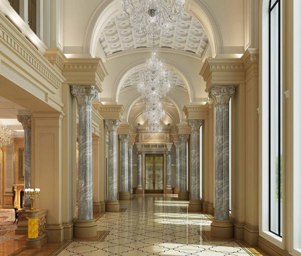 古老的高贵 Art Deco建筑的石材装修