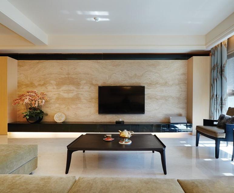 大理石装饰电视机背景墙