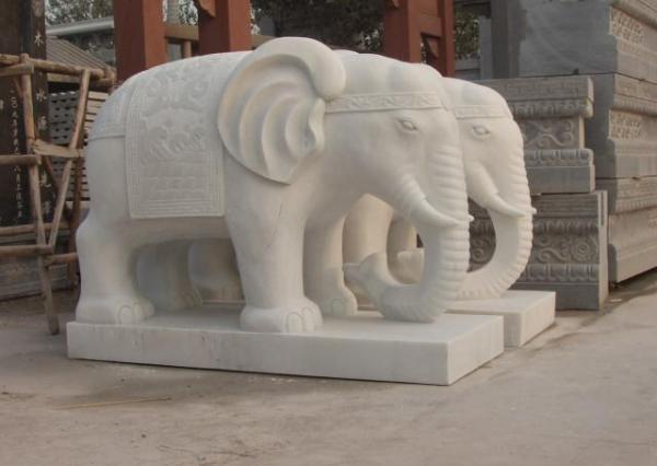 漢白玉石象_漢白玉石象(圖片)