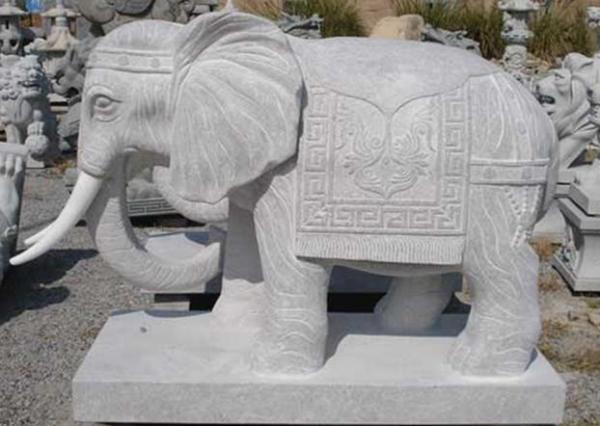 漢白玉大象工藝品_漢白玉石象(圖片)