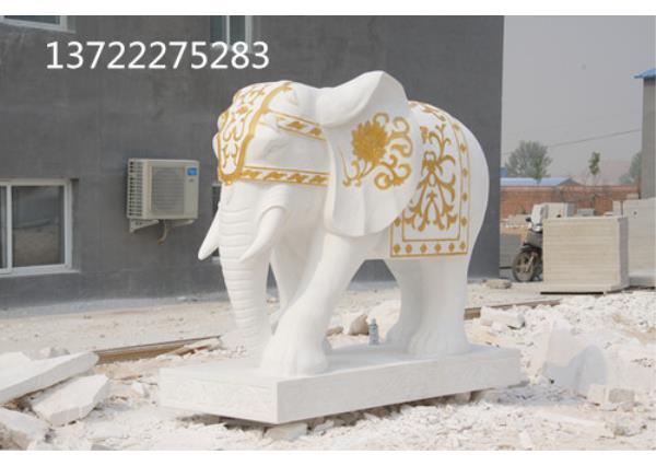 漢白玉大象工藝品_漢白玉大象(圖片)