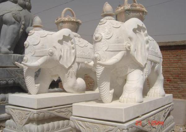 漢白玉大象廠家_漢白玉大象廠家(圖片)
