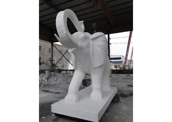漢白玉大象廠家_漢白玉大象工藝品(圖片)