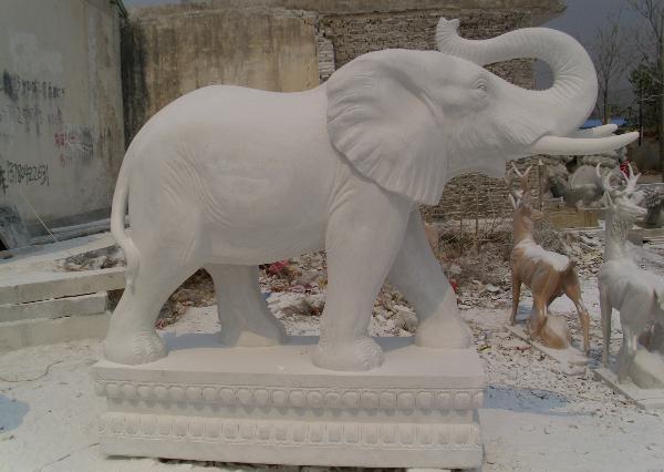 漢白玉大象_漢白玉石象(圖片)