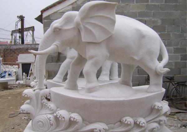 漢白玉大象_漢白玉大象(圖片)